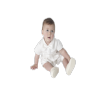Boys Vivaki Plain Ivory Christening Romper in Ivory